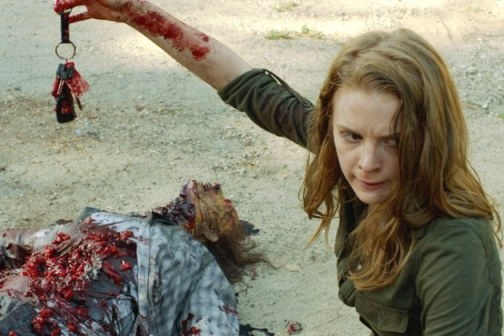 Ashley Bell stars as Karina in AMC's The Walking Dead Season 4 Webisodes entitled 'The Oath'