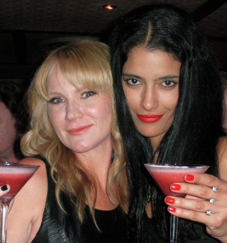 True Blood's Tara Buck (Ginger the screamer) and Jessica Clark (Lilith) attend Seamus O'Toole's Club Fangtasia event