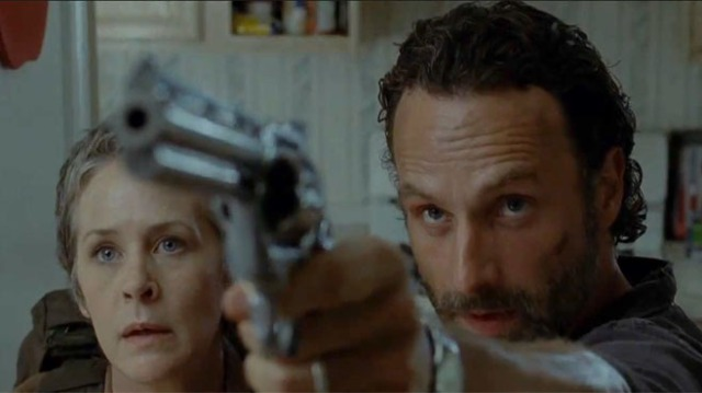 Rick Grimes (Andrew Lincoln) & Carol (Melissa McBride) star in AMC's The Walking Dead Season 4, Episode 4, entitled 'Indifference'