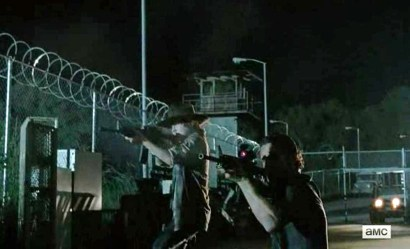 Rick (Andrew Lincoln) and Carl (Chandler Riggs) star in AMC's The Walking Dead, Season 4, Episode 5, entitled 'Internment'