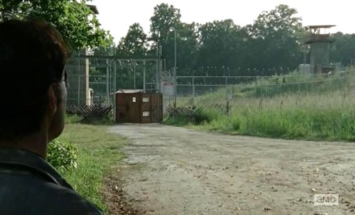 It's all fun and games until the Governor (David Morrissey) turns up in AMC's The Walking Dead, Season 4, Episode 5, entitled 'Internment'