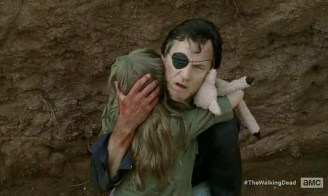 The Governor (David Morrissey) gets helped out of a hole in AMC's The Walking Dead Deason 4, Episode 7, entitled 'Dead Weight'