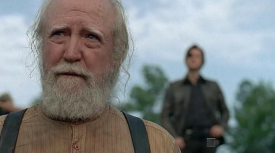 Hershel (Scott Wilson) comes up against the Governor (David Morrissey) in AMC's The Walking Dead