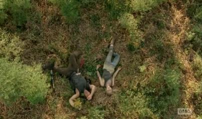 Daryl Dixon (Norman Reedus) and Beth (Emily Kinney) star in Season 4, Episode 10 of AMC's The Walking Dead