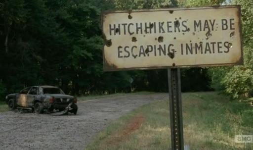 Season 4, Episode 10 of AMC's The Walking Dead, the one in which the escapees ARE the inmates...