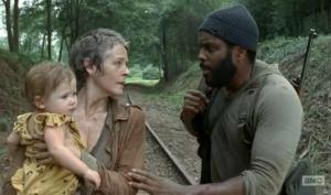 Carol and Tyreese pair up in Season 4 of AMC's The Walking Dead.