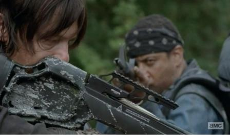 Daryl Dixon (Norman Reedus) finds a new group of survivors in Season 4, EPisode 13 of AMC's The Walking Dead