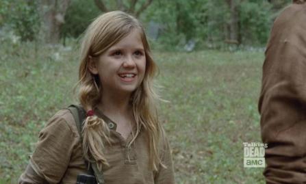 Mika (Kyla Kenedy) stars in Season 4, EPisode 14 of AMC's The Walking Dead