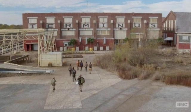 Some members of AMC's The Walking Dead finally get to Terminus in Season 4, Episode 15.