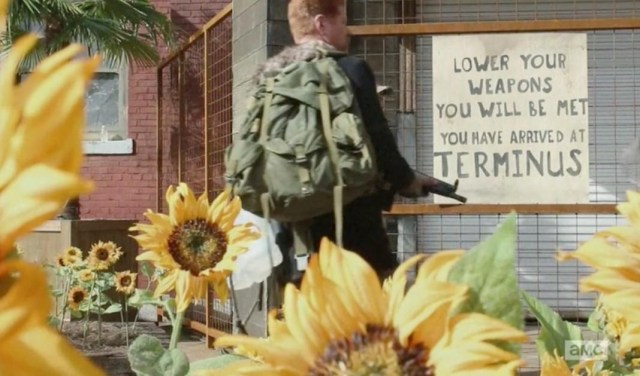 Regulars from AMC's The Walking Dead start to arrive at Terminus in Season 4, Episode 15.