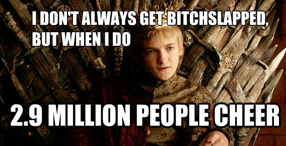 King Joffrey (Jack Gleeson) has a challenging time in Season 4, Episode 2 of HBO's Game of Thrones