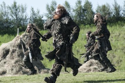 The wildlings attack in Episode 3 (entitled 'Breaker of Chains') in Season 4 of HBO's Game of Thrones