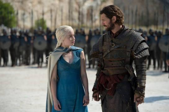 Daenerys Targaryen (Emilia Clarke) arrives at Meereen in Episode 3 (entitled 'Breaker of Chains') of Season 4 of HBO's Game of Thrones