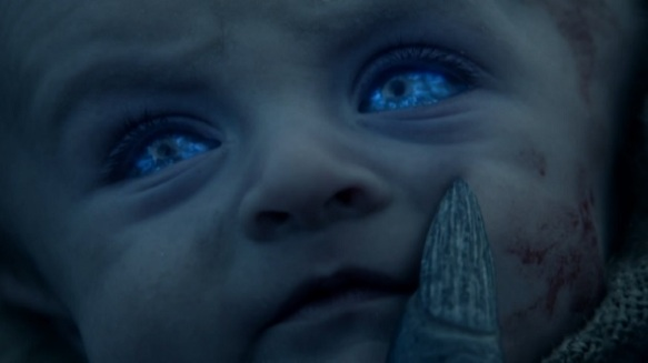 A baby white walker in the making in Season 4, EPisode 4 of HBO's Game of Thrones
