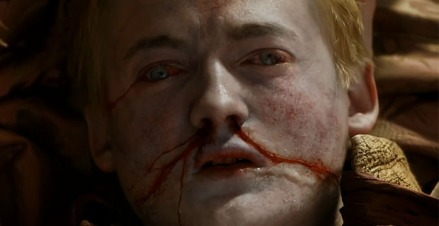 King Joffrey (Jack Gleeson) is dead in Season 4, Episode 2 of HBO's Game of Thrones #purplewedding