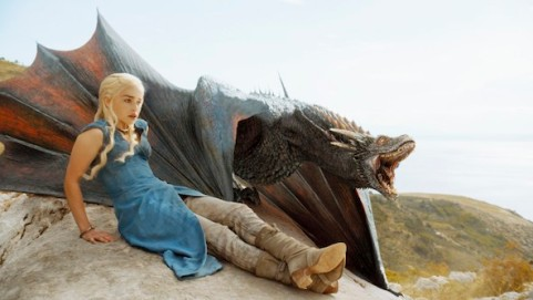 Emilia Clarke stars as the Khalessi we all love the most, Daenerys Targaryen, in Season 4, Episode 1 of HBO's Game of Thrones