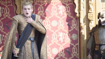 King Joffrey (Jack Gleeson) chokes in Season 4, Episode 2 of HBO's Game of Thrones #purplewedding