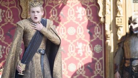 King Joffrey (Jack Gleeson) chokes in Season 4, Episode 2 of HBO's Game of Thrones #purplewedding