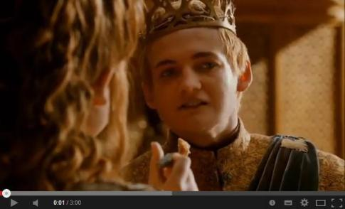 King Joffrey Dies YouTube video