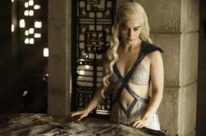 Daenerys (Emilia Clarke) stars in Season 4, Episode & (Mockingbird) of HBO's Game of Thrones