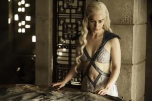 Daenerys (Emilia Clarke) stars in Season 4, Episode & (Mockingbird) of HBO's Game of Thrones