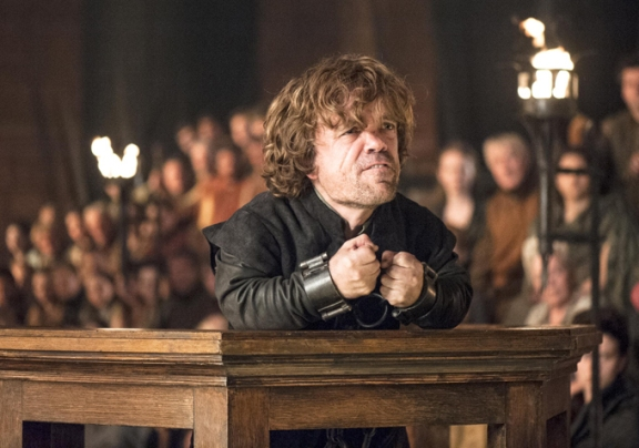 Tyrion (Peter Dinklage) finally gets his trial in Season 4, Episode 6 (The Laws of Gods and Men) of HBO's Game of Thrones