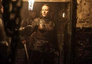 Yara (Gemma Whelan) attempts to rescue Theon Greyjoy (Alfie Allen) in Season 4, Episode 6 (The Laws of Gods and Men) of HBO's Game of Thrones