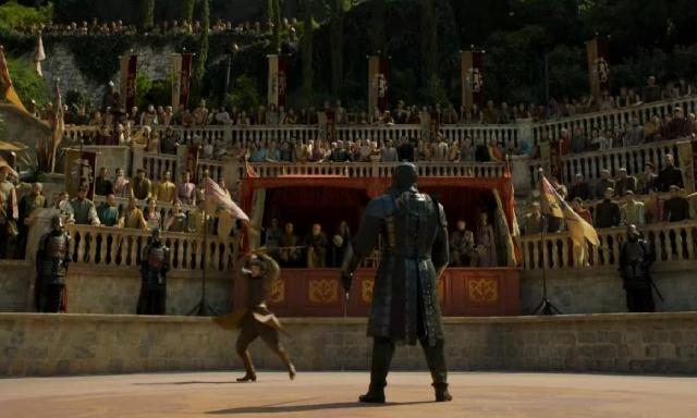 HBO's Game of Thrones Season 4 Episode 8 (The Mountain and the Viper)