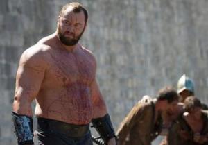 The Mountain (Hafþór Júlíus Björnsson) stars in Season 4, Episode 7 (Mockingbird) of HBO's Game of Thrones