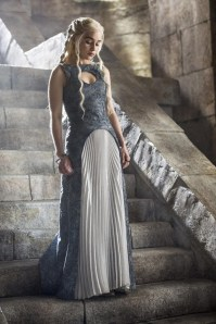 Emilia Clarke stars as Daenerys in HBO's Game of Thrones Season 4 finale, Episode 10 (entitled 'The Children')