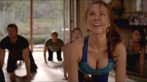 Anna Camp gets a new religion and a new haircolour in HBOs True Blood Season 7 Episode 3 Fire in the Hole