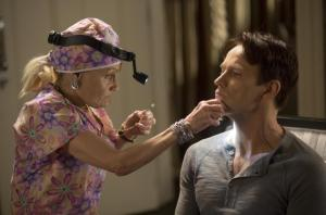 Dr Ludwig (Marcia DeRousse) and Bill Compton (Stephen Moyer) star in HBO's True Blood Season 7 Episode 7 (entitled 'May Be the Last Time')