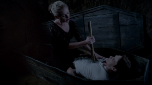 Sookie Stackhouse Anna Paquin stakes Bill Compton Stephen Moyer in HBOs True Blood Season 7 finale EPisode 10 entitled Thank You