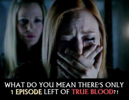 What do you mean there's only one episode left of True Blood