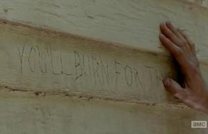 The writing is on the wall in Episode 2 entitled Strangers of AMCs The Walking Dead Season 5