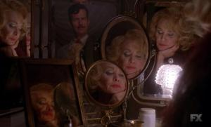 Jessica Lange and Denis O'Hare star in Episode 5 (entitled Pink Cupcakes) of Season 4 AHS Freak Show