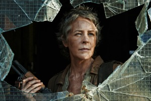 Carol (Melissa McMride) reaches cracking point in Episode 6 (entitled 'Consumed') Season 5 of AMC's The Walking Dead