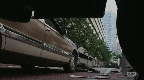 Carol (Melissa McBride) gets mowed down in Episode 6 (entitled 'Consumed') Season 5 of AMC's The Walking Dead