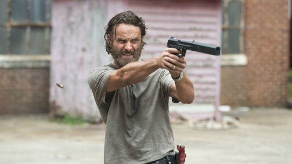 Andrew Lincoln stars as Rick Grimes in Episode 5 (entitled Crossed) Season 5 of AMC's The Walking Dead