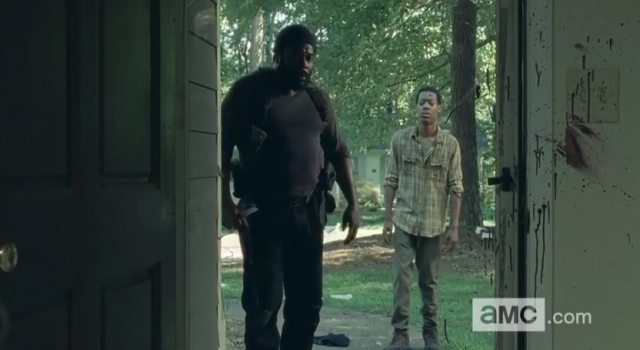 Tyreese (Chad Coleman) stars in Season 5 Episode 9 (What Happened and What's Going On) of AMC's The Walking Dead
