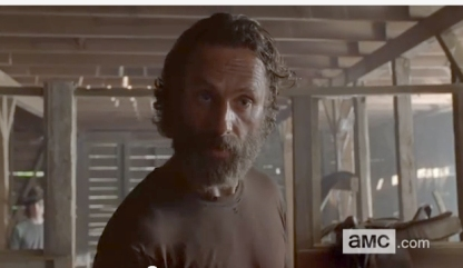 Rick (Andrew Lincoln) tries paranoia on in Episode 11 (The Distance) Season 5 of AMC's The Walking Dead