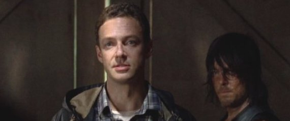 Aaron (Ross Marquand) in Episode 11 (entitled The Distance) Season 5 of AMC's The Walking Dead