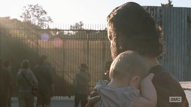 Alexandria is introduced in Episode 11 (entitled The Distance) Season 5 of AMC's The Walking Dead