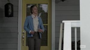 Carol (Melissa McBride) gets her granny on in Episode 12 (entitled Remember) Season 5 of AMC's The Walking Dead