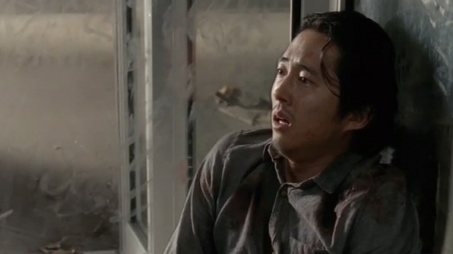 Glenn (Steven Yeun) stars in EPisode 14 (entitled Spend) Season 5 of AMC's The Walking Dead