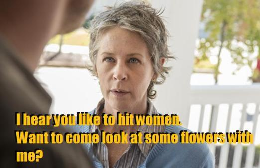 TWD S05E14 Carol meme