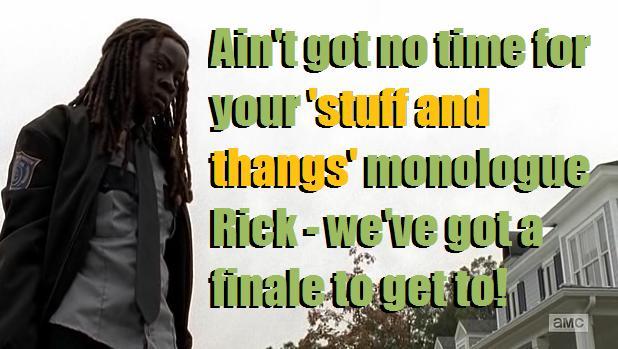 TWD S05E15 Michonne is the law meme