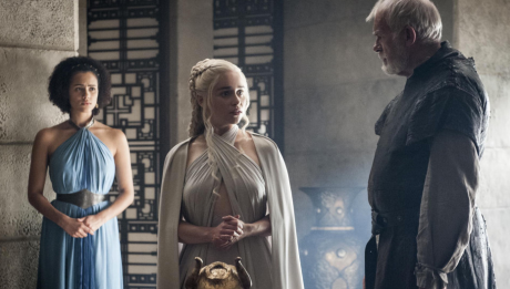 Game of Thrones Season 5 Episode 2 (entitled The House of Black and White) Daenerys (Emilia Clarke)
