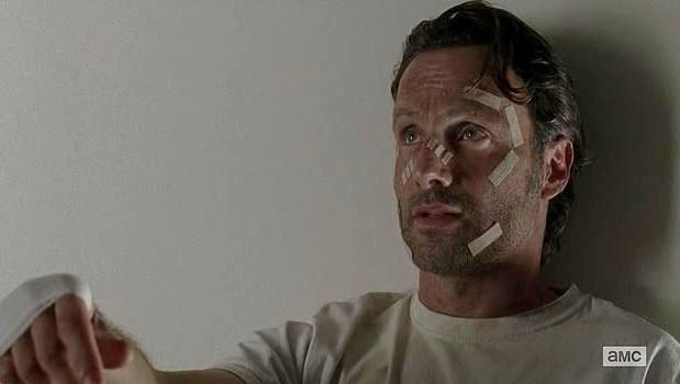 Andrew Lincoln stars as Rick Grimes in Episode 15 (entitled Conquer) Season 5 of AMC's The Walking Dead