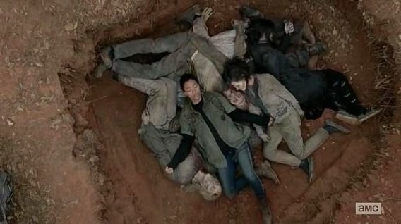 Sasha (Sonequa Martin-Green) suffers from PTSD in Episode 15 (entitled Conquer) Season 5 of AMC's The Walking Dead